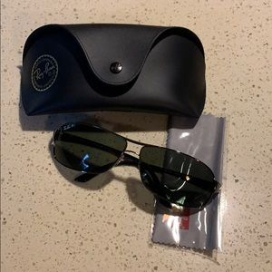 Ray-Ban Men's Sunglasses With Case+Cleaning Cloth
